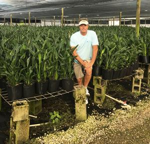 Keith St. Germain at his nursery operation  in Homestead.