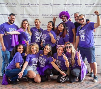 The Palace Gardens Alzheimer's Awareness team.