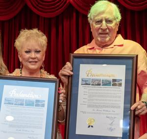 "Judy Waldman and her husband,  Dr. Merv Waldman, recipients of the ""Senior Citizen of the Year"""
