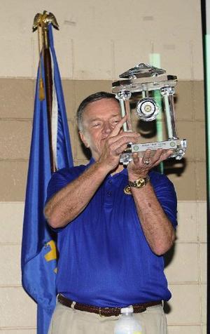 Bob receiving a Rotary, crystal-embedded clock