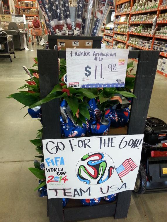 Home Depot World Cup Flowers