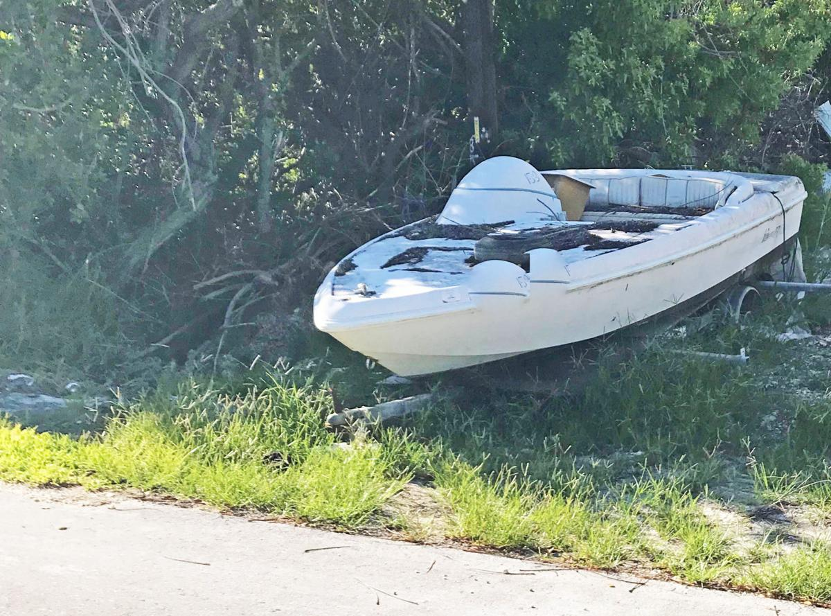 Boat dumped on right of way
