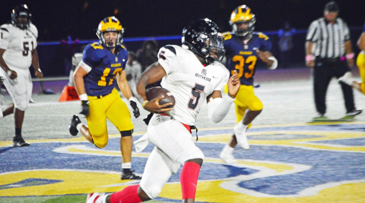 South Ridge's George Young runs for the touchdown.