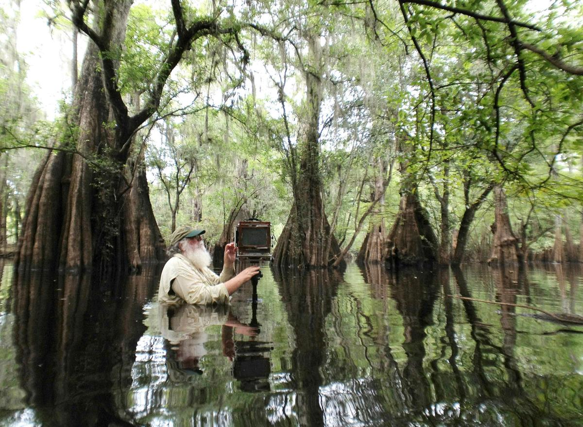 Clyde Butcher in the Everglades.