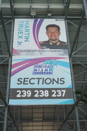 Truex Championship Banner is up at the speedway