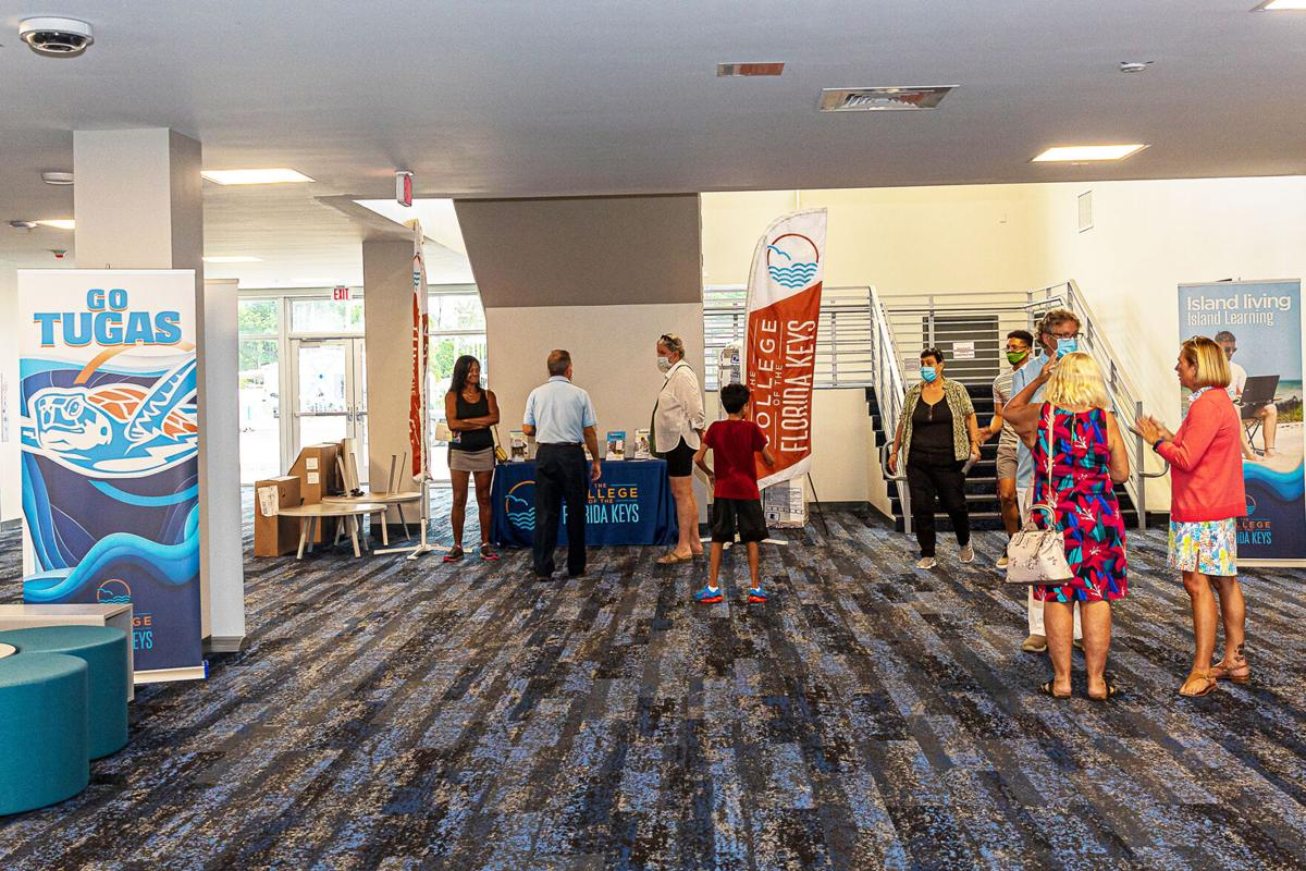 CFK President and CEO Jonathan Gueverra spoke with visitors about the new center and advantages of attending College of the Florida Keys