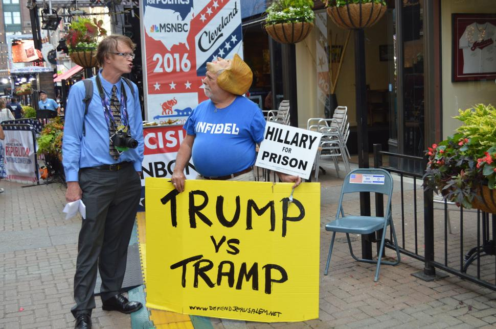 RNC Convention in Cleveland -Protester