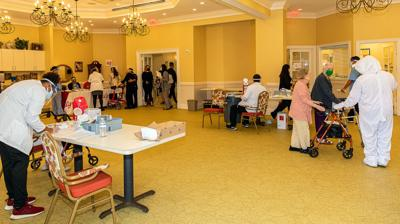 The Homestead Palace Garden's Activities Room was turned into a Covid-19  Vaccination Center in January.