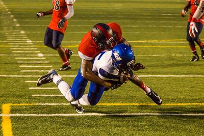 South Dade Dives for a Touchdown in their Victory over American High School
