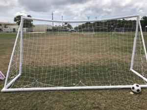 Soccer field at the HHS temporary influx shelter at Homestead
