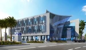 The initial concept rendering of the Miami-Dade College Entrepreneurial Center/Entrance.