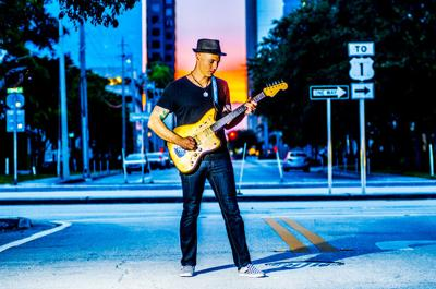 Aaron Lebos, masterful guitarist, will appear with two other musicians when he is  featured as part of the SMDCAC Sessions Virtual Cabaret.