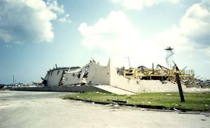 Destruction of Homestead Air Force Base after Hurricane Andrew.