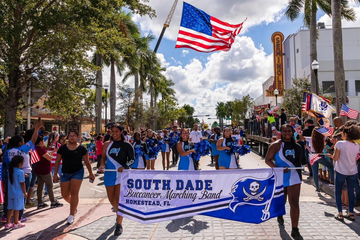 Seen in the pre-COVID-19 days, the Buccaneers Marching Band of South Dade Senior High is always popular.