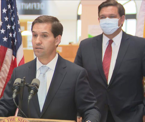 John Couriel, Miami attorney and Cuban-American, speaks after Gov. Ron DeSantis announced his appointment to the Florida  Supreme Court.