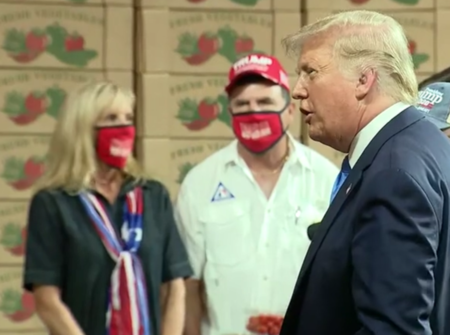 Cheryl and Kern Carpenter spoke with President Donald Trump about farming difficulties in Homestead.