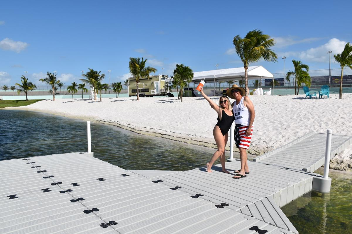 SDNL writer Phil Marraccini checks out Homestead-Miami Speedway's new Ally Beach.