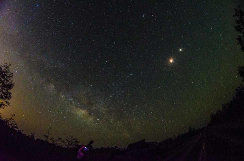 Milky Way & Blood Moon