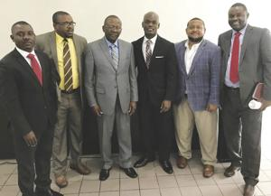 State Rep. Kionne McGhee joins with area pastors at Princeton Church of the Nazarene Haitian Worship Service.