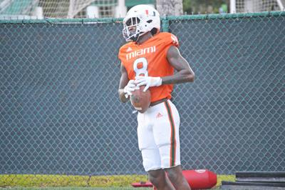 South Ridge alum Dee Wiggins is getting ready for the Miami opener against UF.