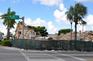 Demolition site at Mowry and Krome - getting ready for a new, exciting Homestead Downtown.