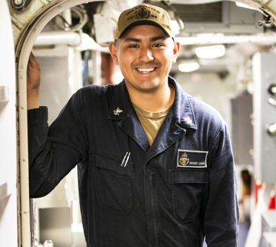 Petty Officer 2nd Class Anthony Alvarez, a native of Homestead, and 2016 South Dade High School graduate, wanted to join the Navy to travel and see the world.