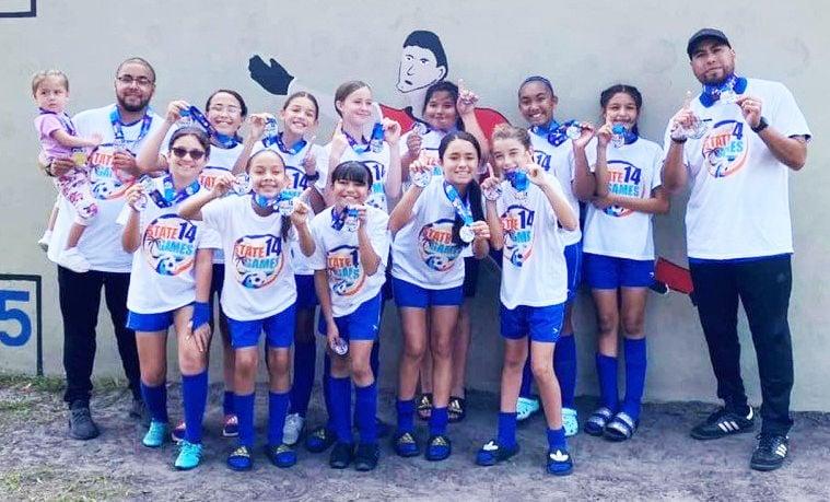 The AYSO Homestead 12U girls champions.