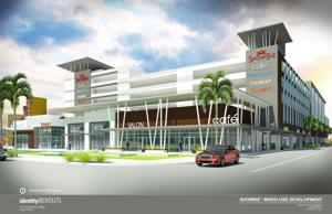 Rendering of Homestead Entertainment/Parking Complex