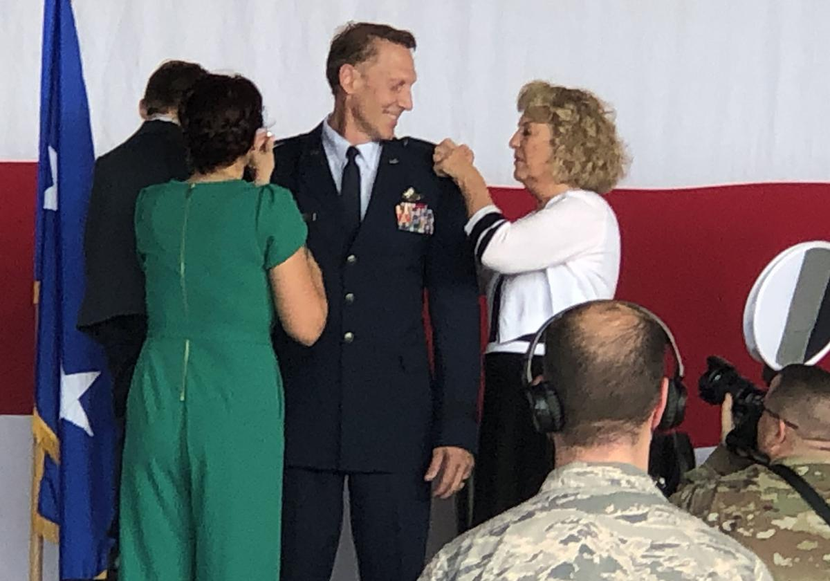 Brigadier General Piffarerio was assisted in his pinning by his wife Jennifer, son Bryce, and his parents.