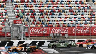 Empty stands at the Coco Cola 600.