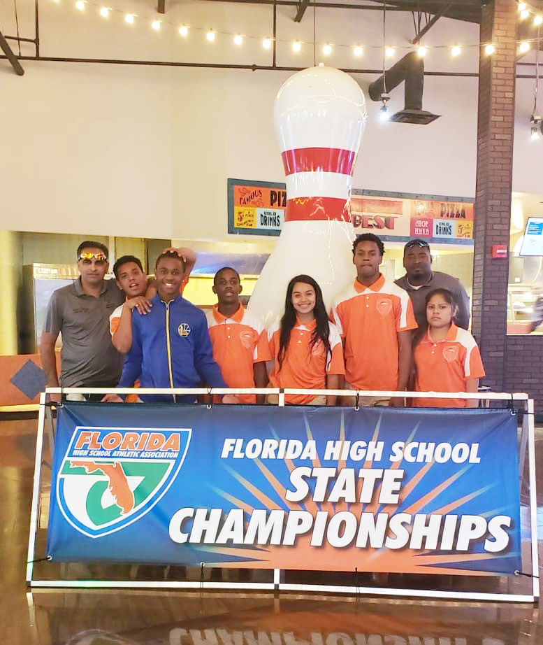 The Homestead Bronco's Unified Bowling Team