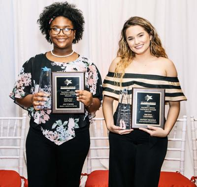 Joi Turner from Frank C. Martin K-8 Center and Jazmin Neadle from South Miami Senior High School, received the Walter B. Arnold Jr. Youth Hall of Fame Community Service Award. The Youth Fair awarded $1,000 to each of them.