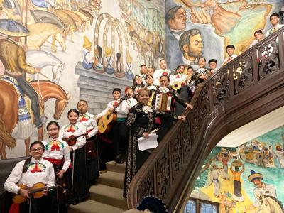 Mariachi Conservatory students and their instructors were notable in the their signature outfits when performing at the Mexican Cultural Institute in Washington, D.C.