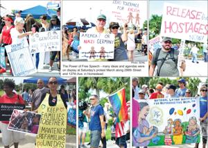 Protesters in Homestead on Saturday