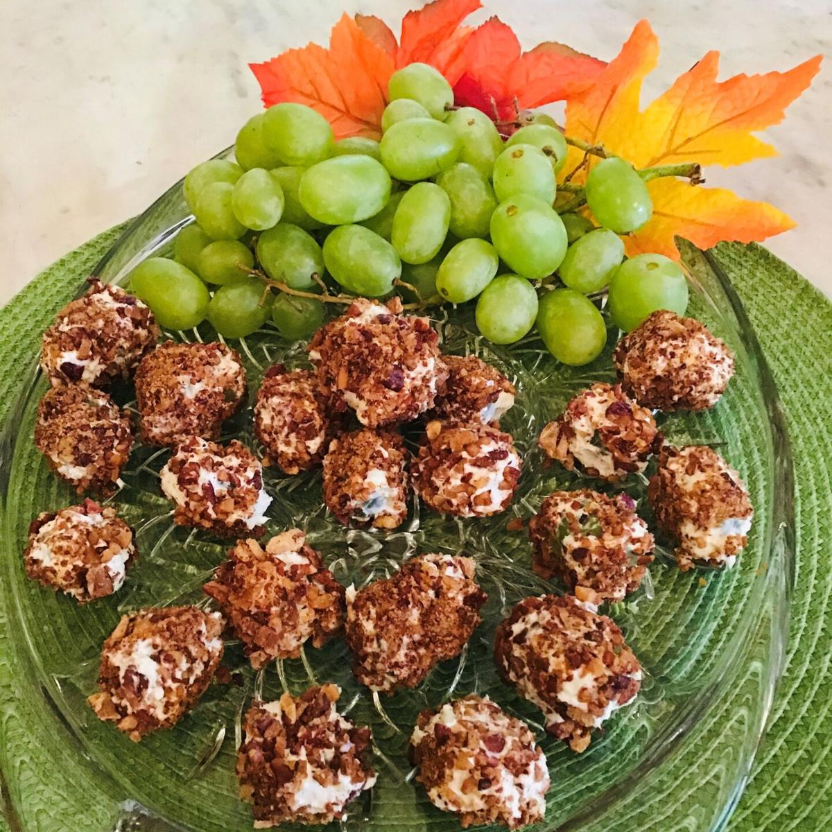 Roquefort Grapes rolled in Toasted Pecans
