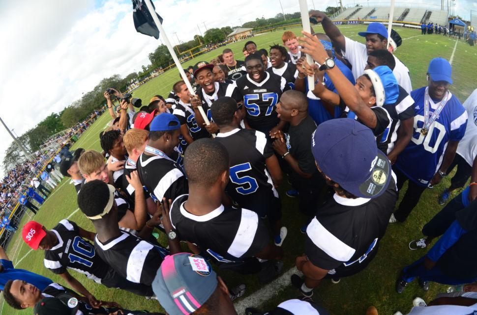 South Dade Championship Celebration Team Huddle