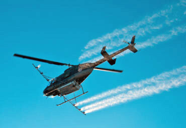 ou may have seen a similiar A helicoptor spraying an aerial larvicides over Key Largo.