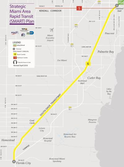 South Dade corridor map