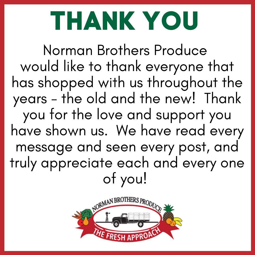 A thank you posting to the Norman Brothers Facebook page.  Hundreds responded to tell their Norman Brothers stories.