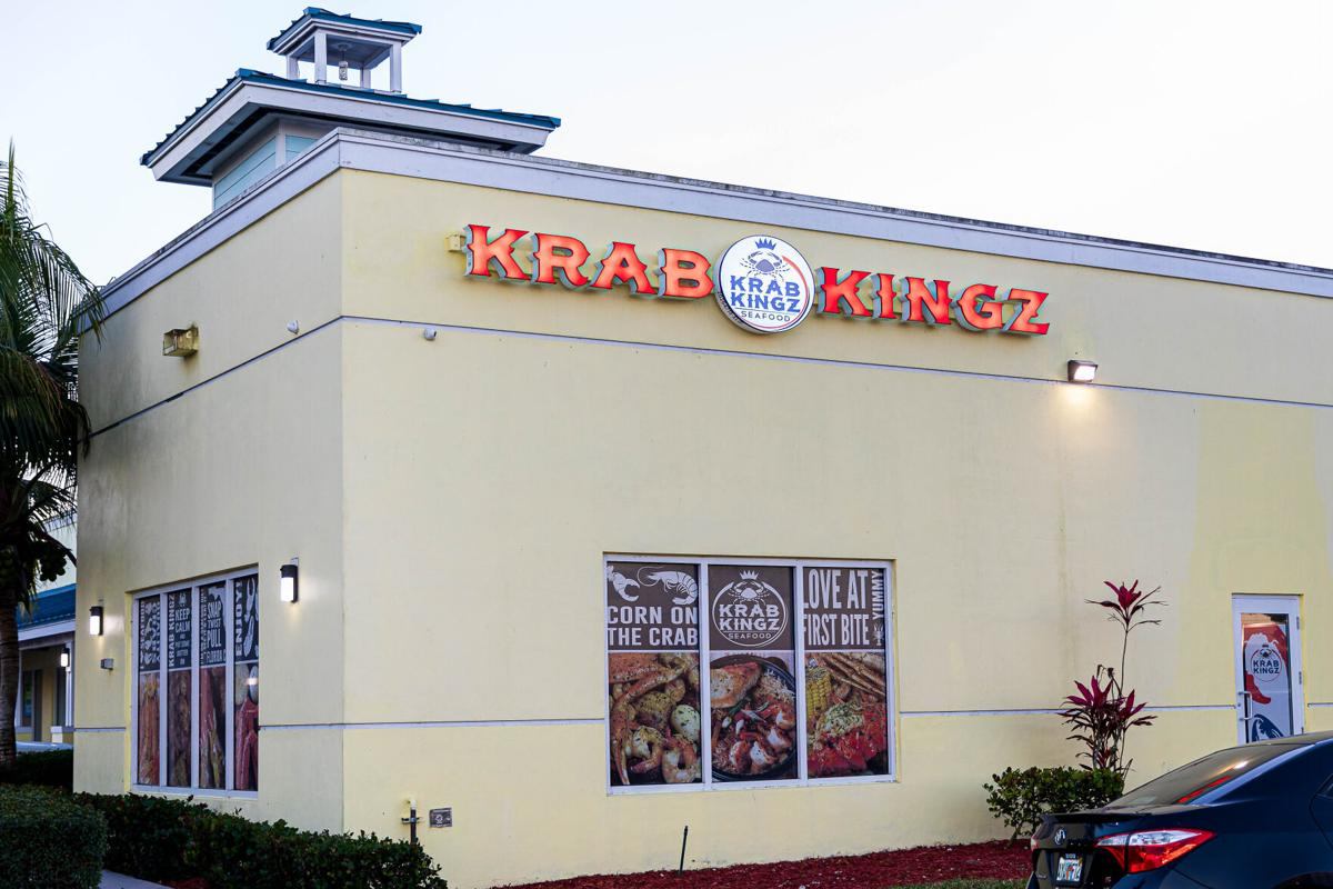 Krab Kingz is tucked into the right-hand corner of the Sailfish Landing shopping center in Florida City.