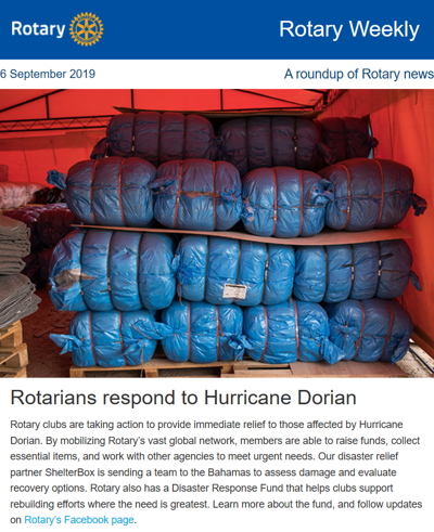 Rotary International Hurricane Dorian Relief