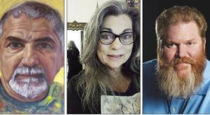 From left: Carlos Franco (self portrait), Susan Sorrentino,  William Bunce.