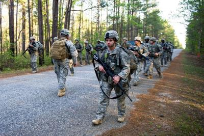 Florida National Guard soldiers in training.