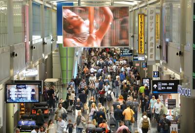 Airport served nearly 80,000 outbound  passengers on  record day.