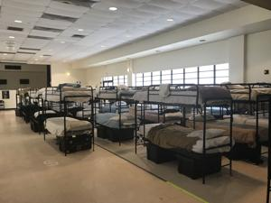 Dormitory at the HHS temporary influx center at Homestead