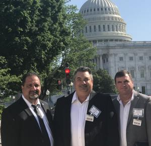 Representing the voice of South Dade farmers to our federal representatives were (from left, above) Jorge Abreu, executive director of the Dade County Farm Bureau; and Sal Finocchiaro and Kern Carpenter, South Dade farmers and DCFB board members