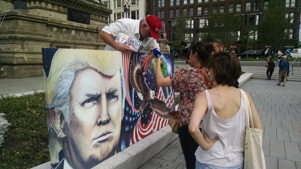 RNC Convention in Cleveland - Trump Painting