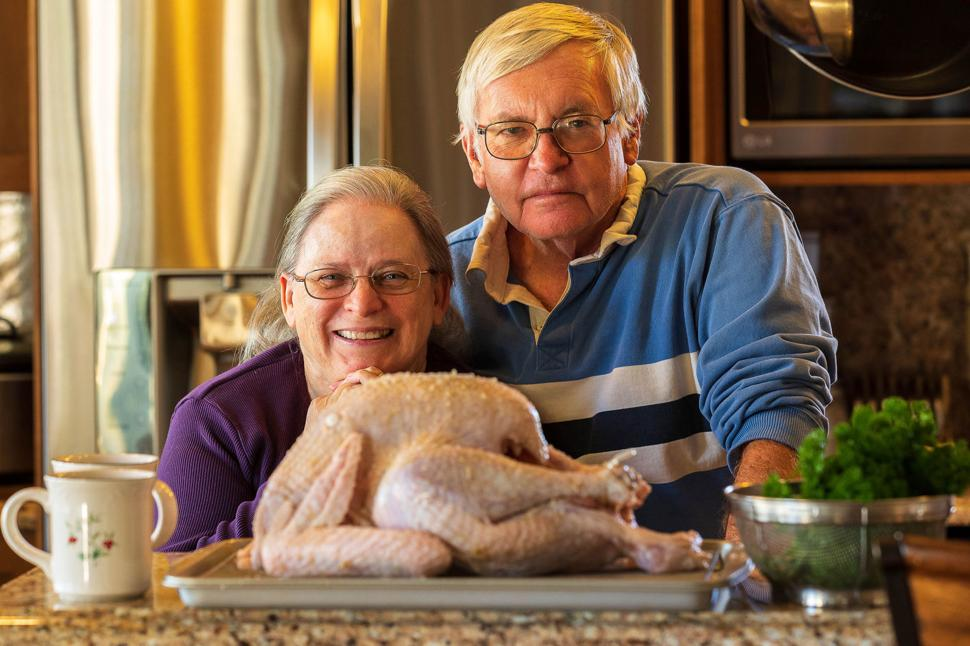 Charlie and Hugh Hudson, have always loved to cook together and holiday meals are extra special.