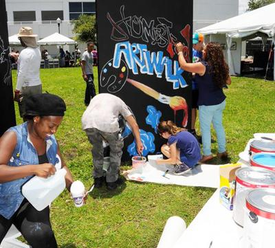 Break out your inner artist at the Art in the Park on Saturday.