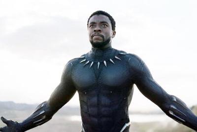 Chadwick Boseman as Black Panther.